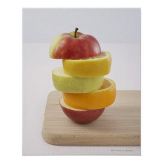 Stacked Fruit Slices Poster