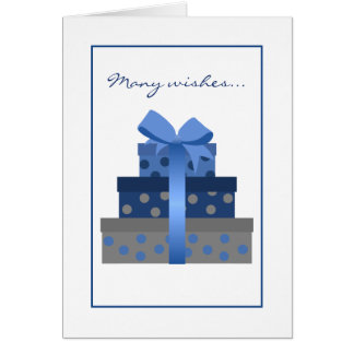 Stacked Gift Boxes Birthday Card