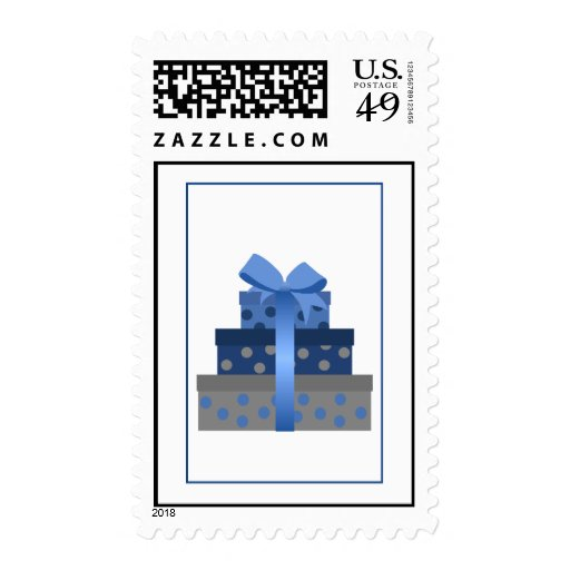 Stacked Gift Boxes Postage Stamp