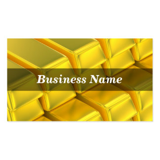 Stacked Gold Ingot Bars Business Card Template