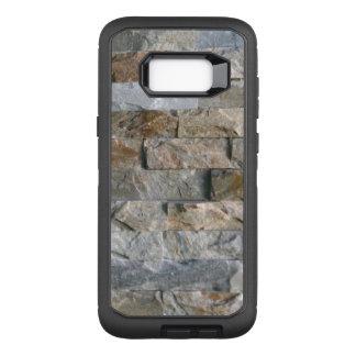 Stacked Gray Granite Stone Slabs OtterBox Defender Samsung Galaxy S8+ Case