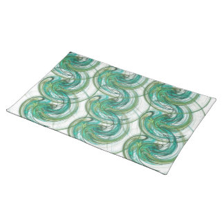 Stacked Green Spinning Wave Cloth Placemat