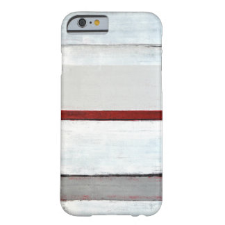 'Stacked' Grey and Red Abstract Art Barely There iPhone 6 Case