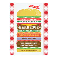 Stacked Hamburger Barbecue Invitation