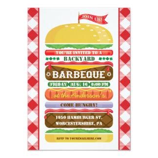 Stacked Hamburger Barbecue Invitation