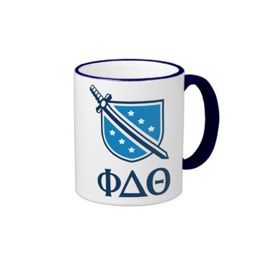 Stacked Logo and Letters - Blue 1 Ringer Coffee Mug