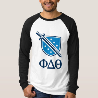 Stacked Logo and Letters - Blue 1 T-Shirt