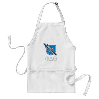 Stacked Logo and Letters - Grey Adult Apron
