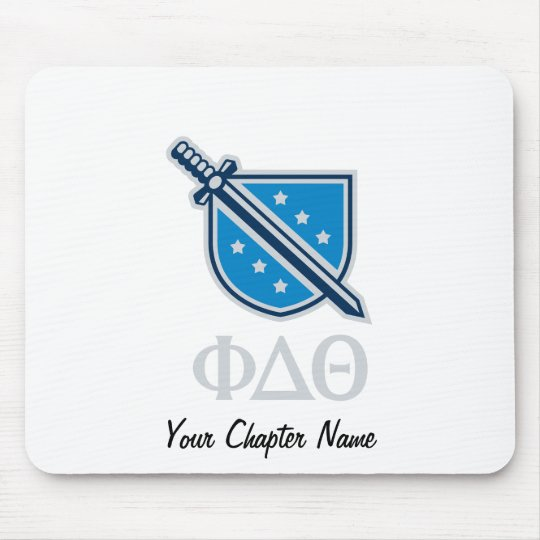 Stacked Logo and Letters - Grey Mouse Pad
