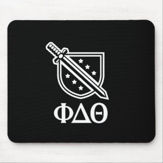 Stacked Logo and Letters - White 2 Mouse Pads