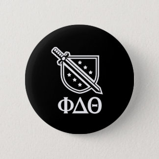 Stacked Logo and Letters - White 2 Pinback Button