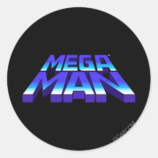 Stacked Logo Classic Round Sticker