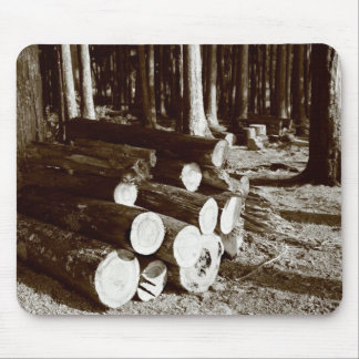 Stacked logs mouse pad