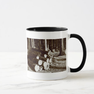 Stacked logs mug