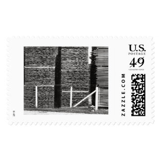 stacked lumber postage