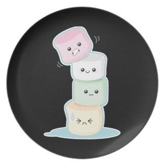Stacked Marshmallows Melamine Plate