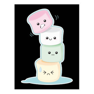 Stacked Marshmallows Postcard