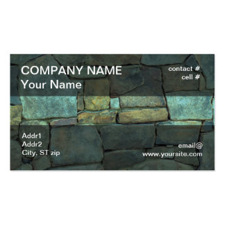stacked natural stone wall business card