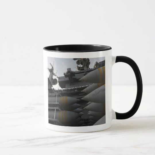 Stacked ordnance ready to be loaded mug