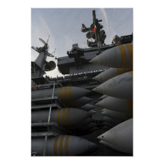 Stacked ordnance ready to be loaded poster