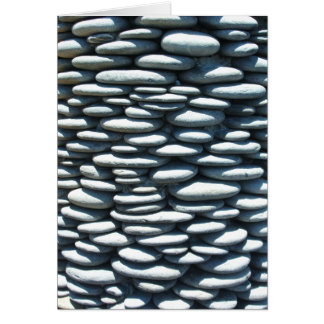 Stacked Pebble Folding Card
