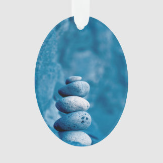Stacked pebbles ornament