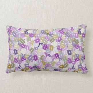 Stacked Purple and Lavender Hexagons Lumbar Pillow