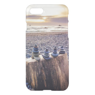 Stacked Rocks at Sunset iPhone 7 Case
