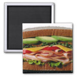 Stacked sandwich 2 inch square magnet