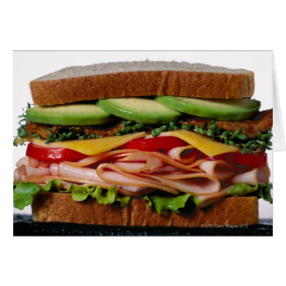 Stacked sandwich card
