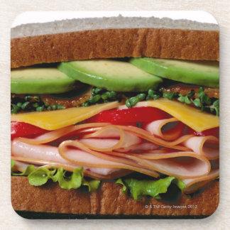 Stacked sandwich drink coaster