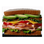Stacked sandwich post card