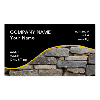 stacked stone wall business card templates