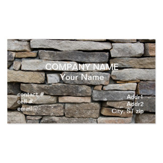 stacked stone wall Double-Sided standard business cards (Pack of 100)