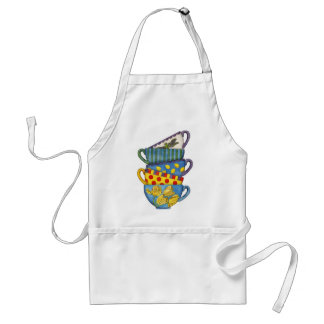 Stacked Teacups Adult Apron