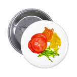 Stacked tomato with sliced peppers button