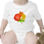 Stacked tomato with sliced peppers shirts