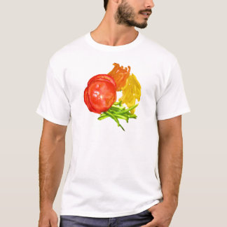 Stacked tomato with sliced peppers T-Shirt