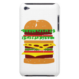 Stacked Triple Burger Barely There iPod Cases