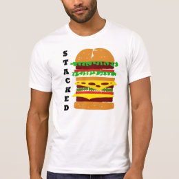 Stacked Triple Burger T-Shirt