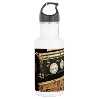Stacked Vintage Travel Cases Stainless Steel Water Bottle