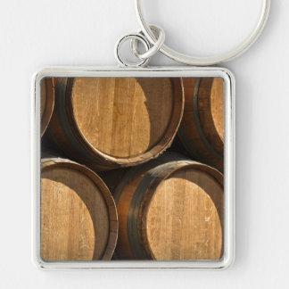 Stacked Wine Barrels Keychain
