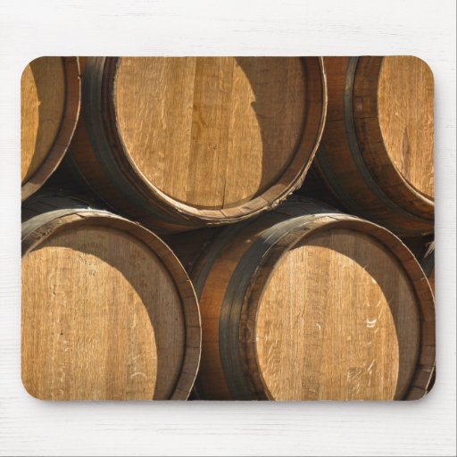 Stacked Wine Barrels Mouse Pad
