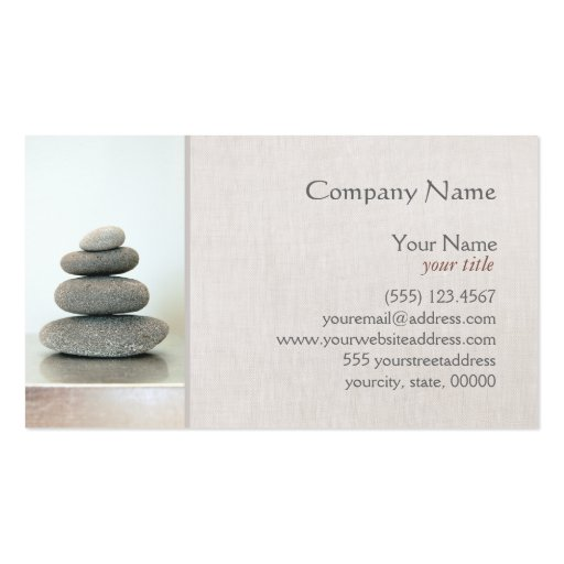 Stacked zen stones business card zazzle for Zen business cards