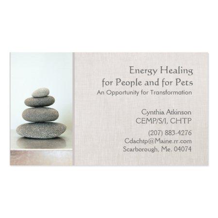 Stacked Zen Stones Energy Healing Business Cards