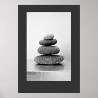 Stacked Zen Stones Poster print
