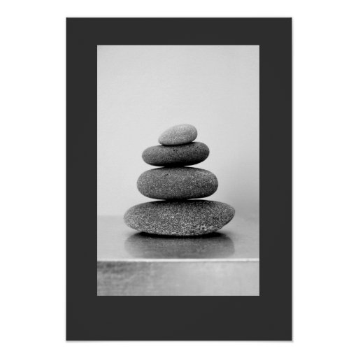 Stacked Zen Stones Poster