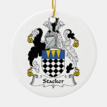 Stacker Family Crest Christmas Tree Ornaments