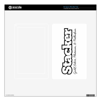Stacker (For Light Colored Products) Kindle Fire Skin