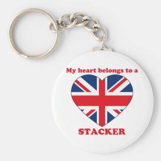 Stacker Basic Round Button Keychain